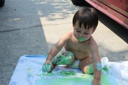 August finger painting 10