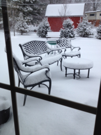Snow patio