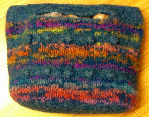 Bobble & Weave Felted Tote