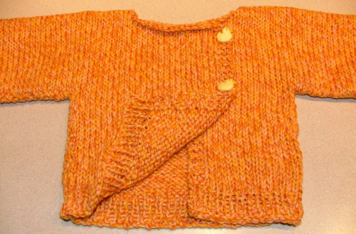 Great pattern!  Baby sweater knit with Cascade.