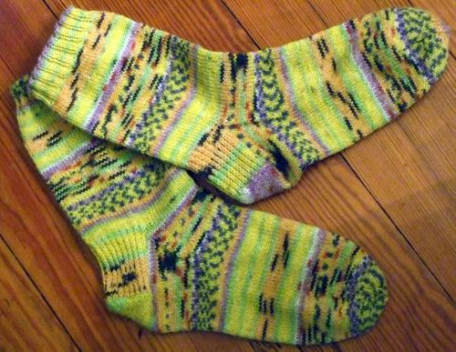 Knit from Opal sock yarn