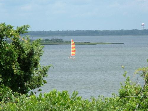 Sailboat at the Crystal Coast of NC